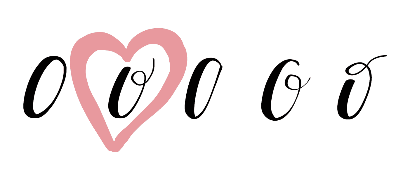 variations of oval stroke with a heart around favorite